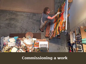 Commission a sculpture or painting with Kathryn Field